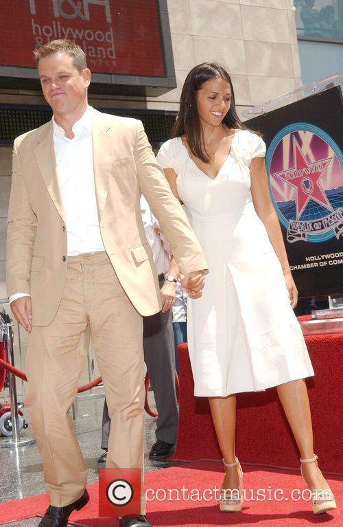 Matt Damon and Luciana Barroso Matt Damon is...