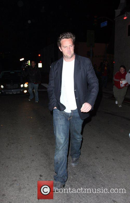 Matthew Perry outside Hollywood's Villa Lounge