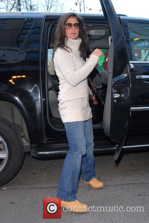 Maura Tierney arriving at a midtown hotel