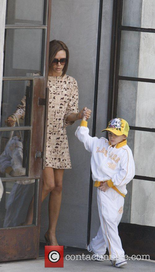 Victoria Beckham leaving the Maxfield Store with her...