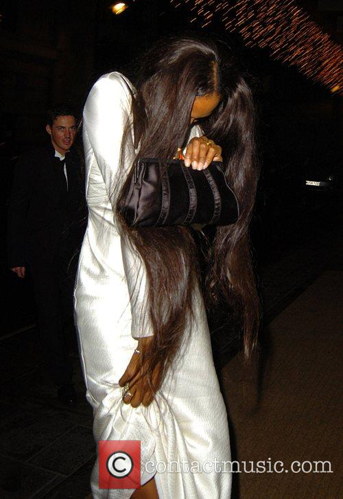 Naomi Campbell leaving the Mayfair Hotel London, England