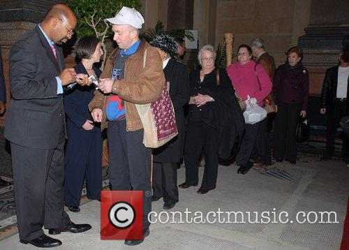 Philadelphia Mayor greets the Citizen's of Philadelphia at...