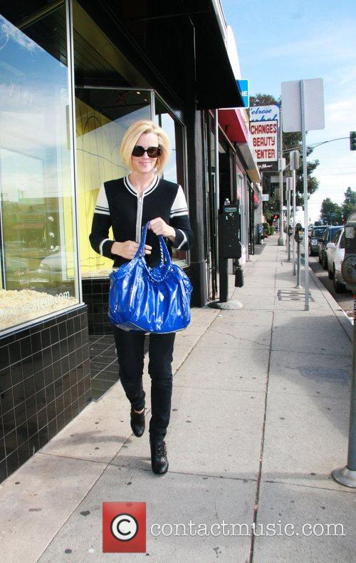Jenny McCarthy shopping at Agent Provocateur on Melrose...