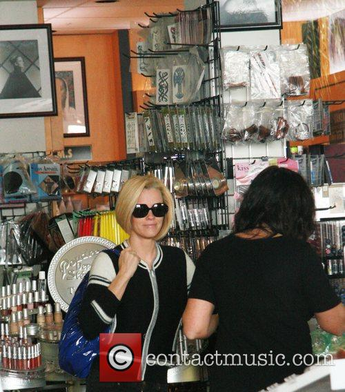 Jenny McCarthy shopping for make-up with friends on...