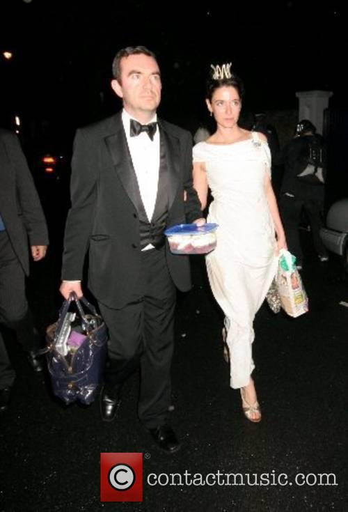 Leaving Sir Paul McCartney's 65th Birthday party held...