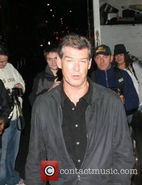 Pierce Brosnan Leaving Mango restaurant after watching Paul...