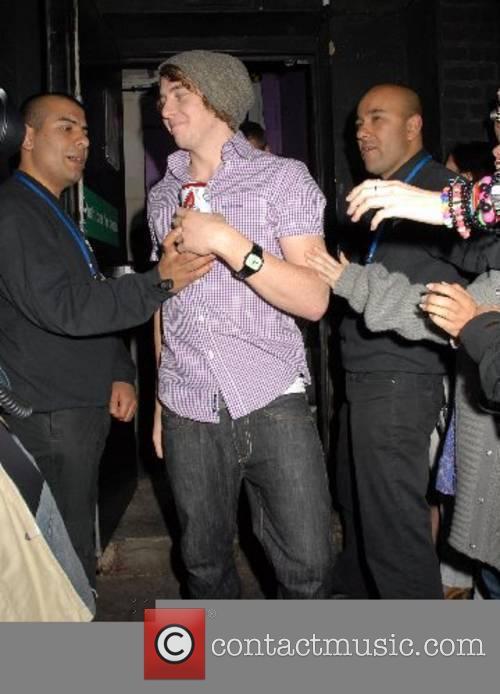 Danny Jones of McFly leaving the Astoria Club
