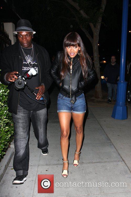 Meagan Good leaving the Crown Bar. Los Angeles,...