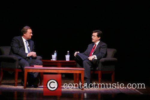 Steven Colbert attends a question and answer session...