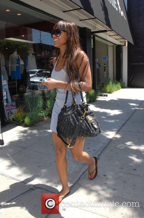 Megan Good Shopping on Robertson Blvd.  Los...