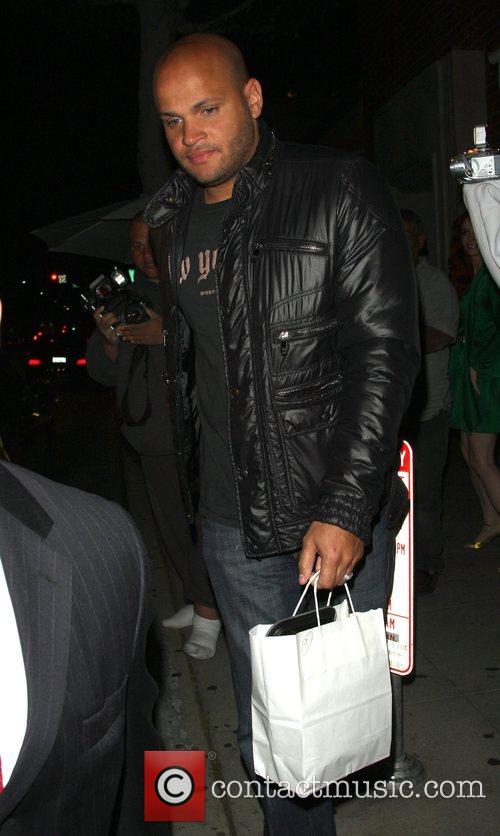 Stephen Belafonte leaving Mr Chow restaurant Los Angeles,...