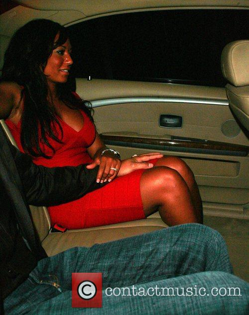 Leaving Koi restaurant in West Hollywood, after dining...