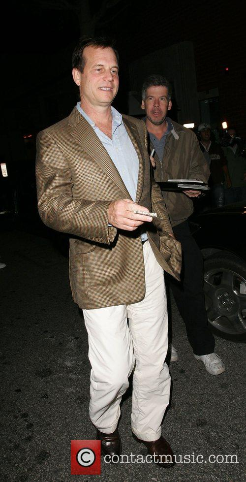 Bill Paxman leaving Mr Chow Restaurant  Beverly...