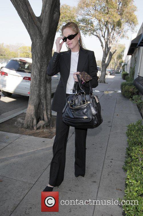 Melanie Griffith leaving the Neil George Hair Salon...