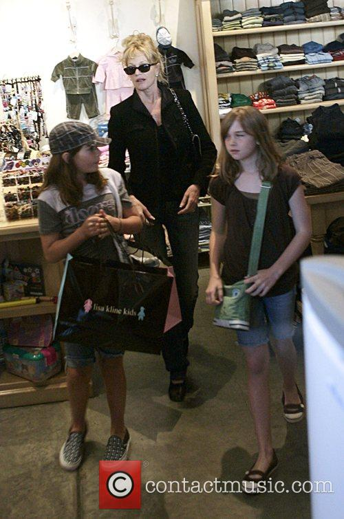 Melanie Griffith and her children shopping at Lisa...