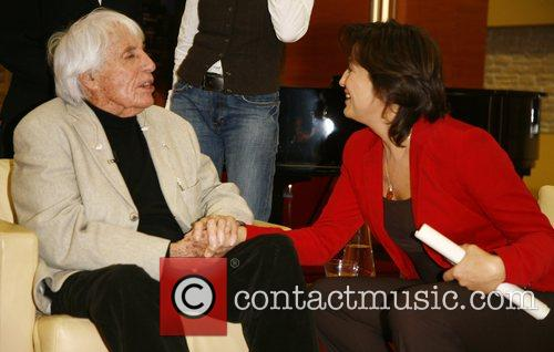 Johannes Heesters and Sandra Maischberger on German talkshow...