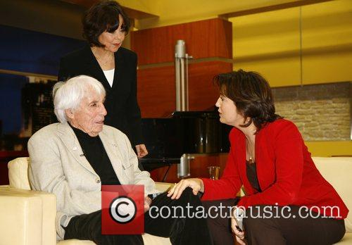 Johannes Heesters, wife Simone Rethel-Heesters and Sandra Maischberger...