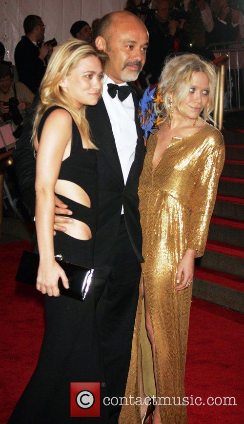 Ashley Olsen, Christian Louboutin and Mary-Kate Olsen 'Superheroes:...