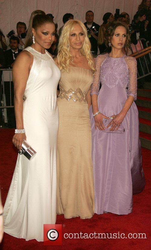 Janet Jackson, Donatella Versace and Allegra Versace 'Superheroes:...