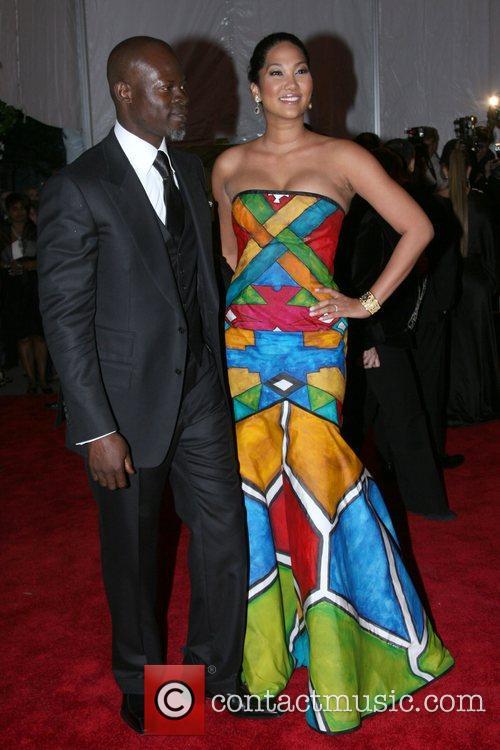 Djimon Hounsou and Kimora Lee Simmons 'Superheroes: Fashion...