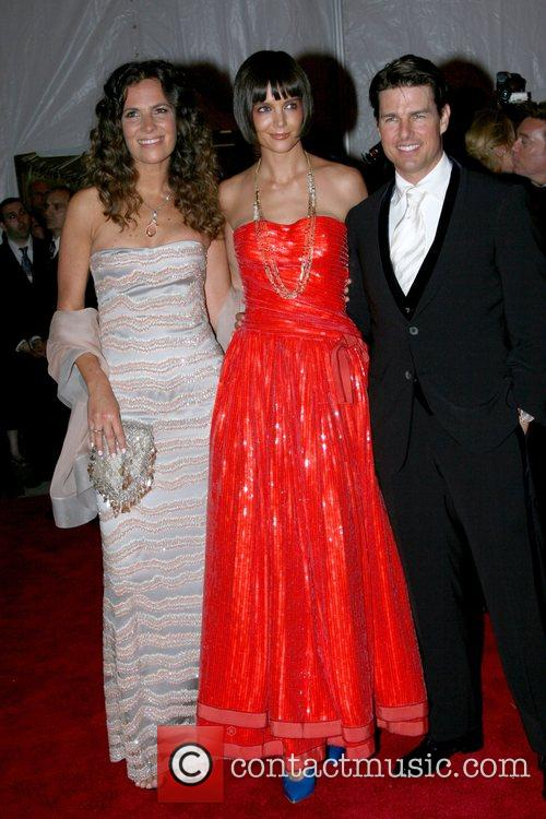 Katie Holmes, Tom Cruise and guest 'Superheroes: Fashion...
