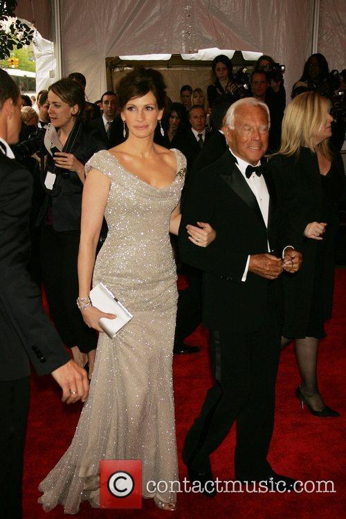 Julia Roberts and Giorgio Armani 'Superheroes: Fashion and...