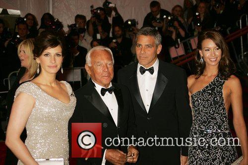 Julia Roberts, Giorgio Armani, George Clooney and Sarah...