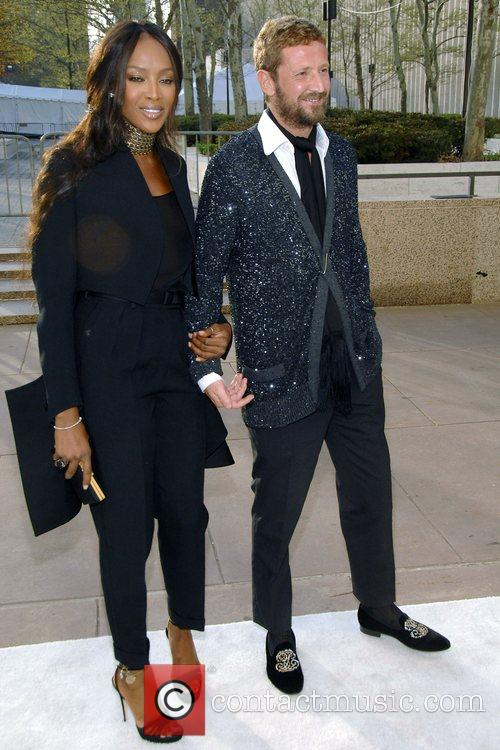 Naomi Campbell and Stefano Pilati The Metropolitan Opera...