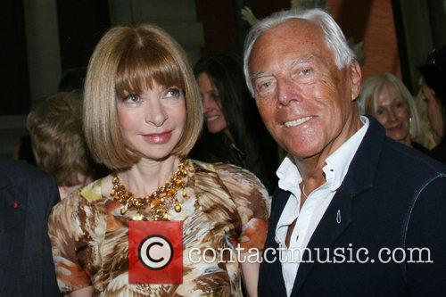Anna Wintour and Giorgio Armani Metropolitan Museum's Costume...