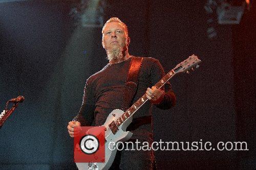 James Hetfield Metallica performing live at the SuperBock...