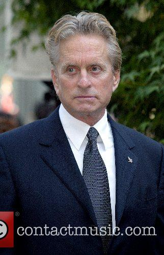 Michael Douglas The Peace Bell Ceremony on the...