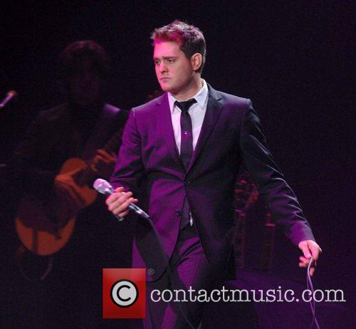 Michael Buble performs at Wembley Arena London, England