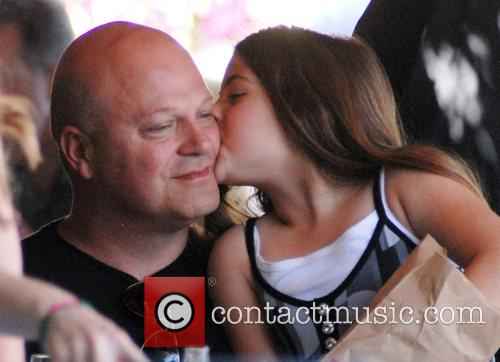 Michael Chiklis spends the afternoon with his family,...