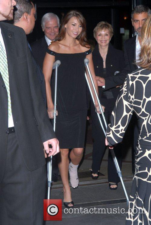 Sarah Larsen and George Clooney New York Premiere...