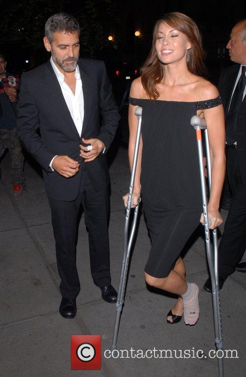 George Clooney and Sarah Larsen New York Premiere...