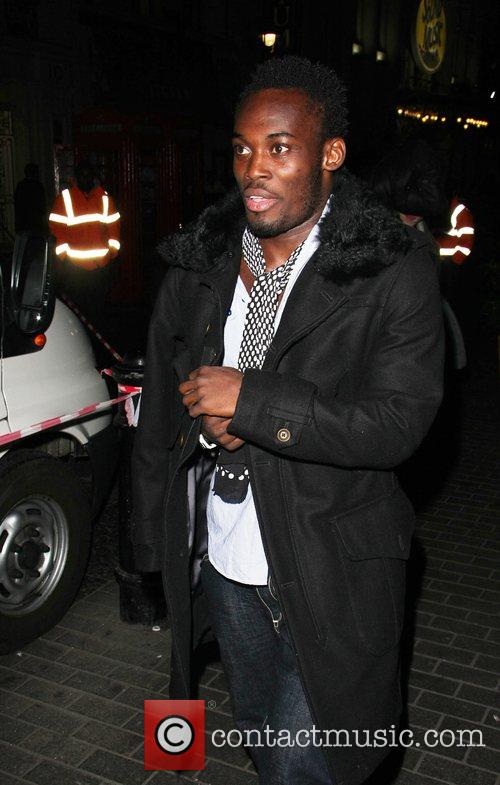 Football player Michael Essien outside Movida Nightclub