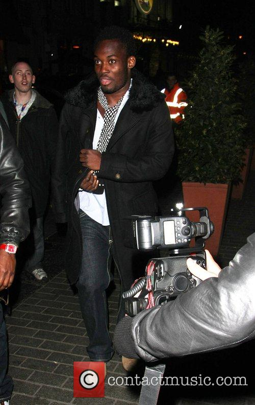 Football player Michael Essien outside Movida Nightclub London,...