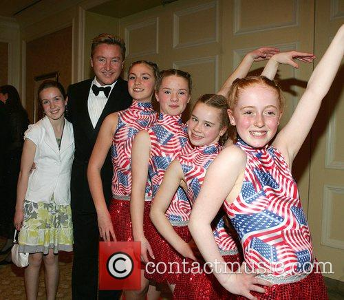 Michael Flatley with dancers Michael Flatley is awarded...