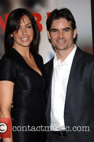 Jeff Gordon with wife Ingrid Vandebosch New York...