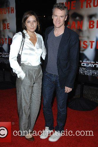 Tate Donovan and guest New York Premiere of...