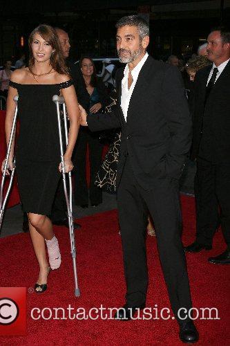 Sarah Larson, George Clooney New York Premiere of...
