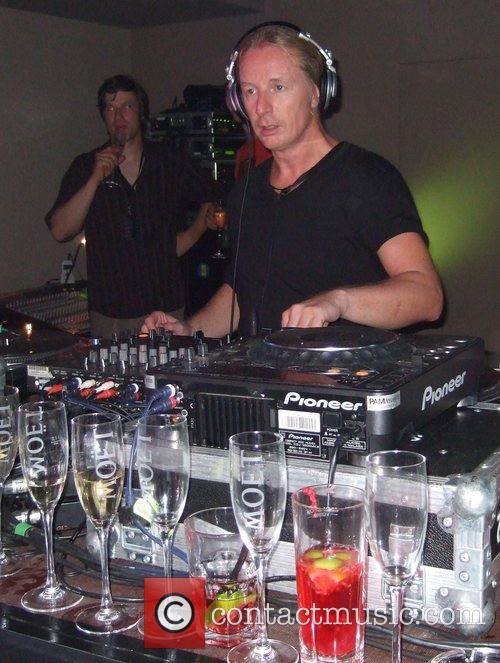 DJ Hell Michalsky Fashion Show Party at restaurant...