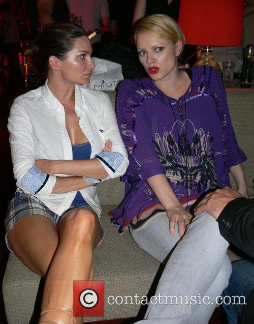Alexandra Kamp and Franziska Knuppe Michalsky Fashion Show...