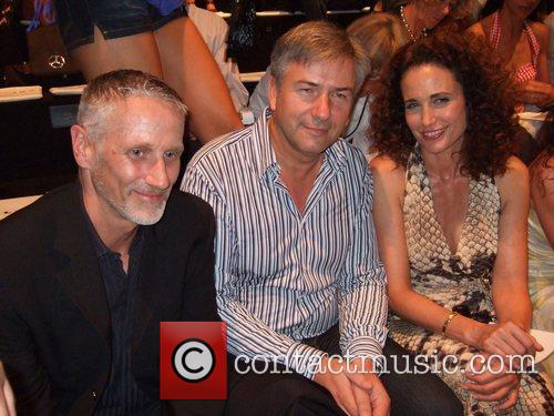 Joern Kubicki, Klaus Wowereit and Andie MacDowell Michalsky...
