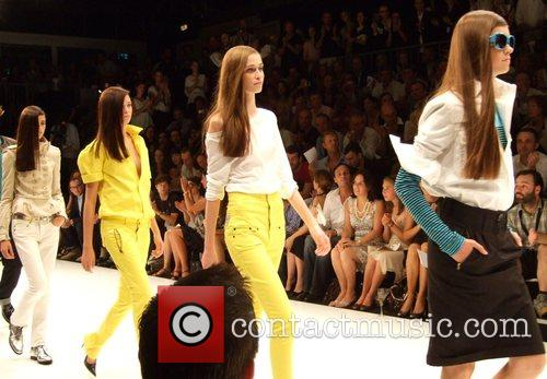 Models Michalsky Fashion Show during the Berlin Fashion...