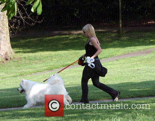 Michelle Collins takes her dog for a brisk...