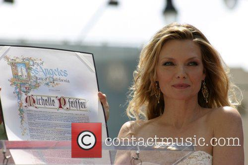 Michelle Pfeiffer and 345th Star On The Hollywood Walk Of Fame. 1