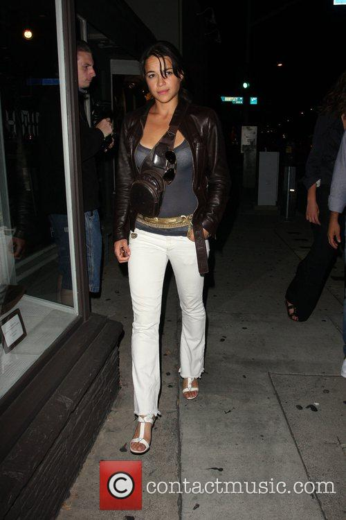 Michelle Rodriguez leaving the Villa Lounge night club....