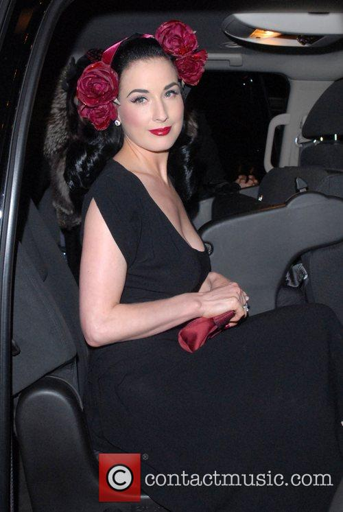 Dita Von Teese out and about in Midtown...