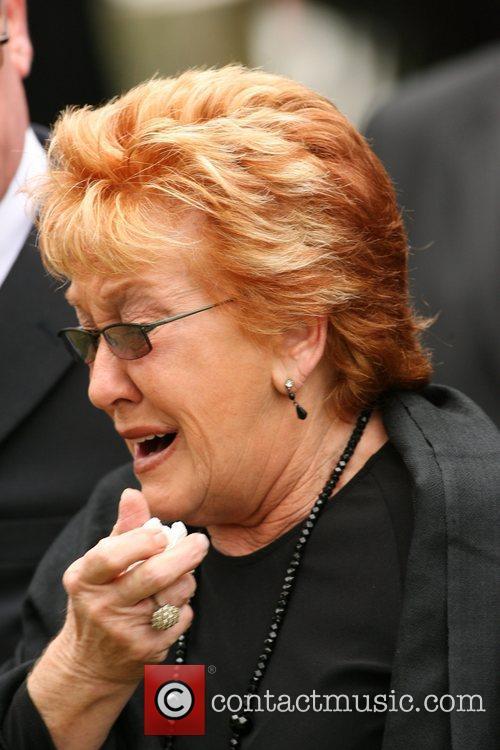 Sylvie Reid The funeral of comedian Mike Reid...